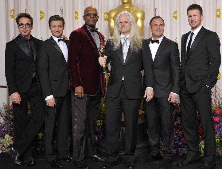 Cinematography oscar winner Claudio Miranda with the Avengers Assemble cast