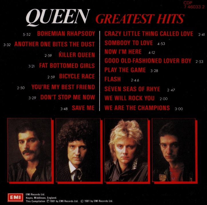 Queen - Greatest Hits - Inside