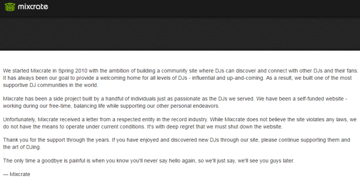 goodbyemixcrate